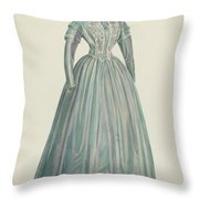 Lavender Taffeta Dress Throw Pillow
