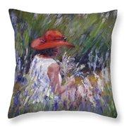 Lavender Treasure Throw Pillow