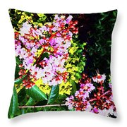 Lavender Upon Gold Throw Pillow