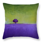 Lavender Valley Throw Pillow