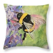 Lavender Visitor Throw Pillow