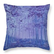 Lavender Woods Throw Pillow