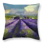 Lavenders Of South Throw Pillow