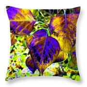 Lavish Leaves 3 Throw Pillow