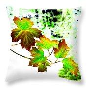 Lavish Leaves 4 Throw Pillow