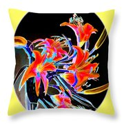 Lavish Lilies 2 Throw Pillow