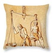 Lavoisiers Respiration Experiments Throw Pillow