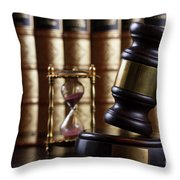 Law And Justice  Throw Pillow