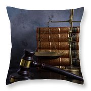 Law And Justice II Throw Pillow