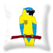 Law Macaw - Yellow Throw Pillow