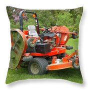 Lawnmower Throw Pillow