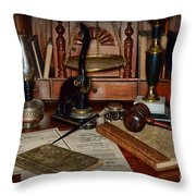 Lawyer - A Lawyers Desk Throw Pillow