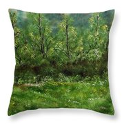 Lay You Down In Soft Dreams Throw Pillow