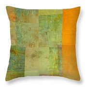 Layer Study - Turquoise Throw Pillow