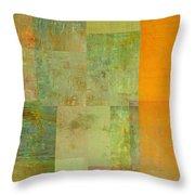 Layer Study - Turquoise Throw Pillow