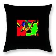 Layered Colors Throw Pillow