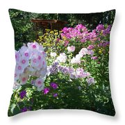 Layered Florals Throw Pillow
