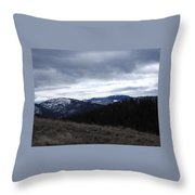 Layered Serenity Throw Pillow