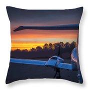 Layered Sunrise On The Ramp Throw Pillow