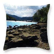 Layers Of Beauty II Throw Pillow by Lj Lambert