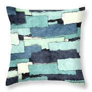 Layers Of Colors Pattern Throw Pillow