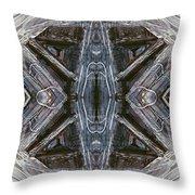 Layers Of Ice #1 - Mount Monadnock Throw Pillow