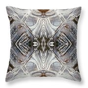 Layers Of Ice #2 - Mount Monadnock Throw Pillow
