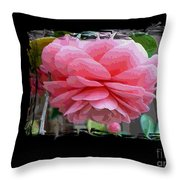 Layers Of Pink Camellia Dream Throw Pillow