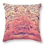 Layers Of Sand Throw Pillow