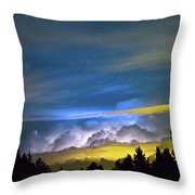 Layers Of The Night Throw Pillow