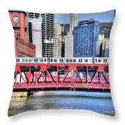 Layers On The River Throw Pillow