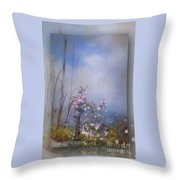 Layers Of Wildflowers Throw Pillow
