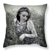Laying Around Throw Pillow
