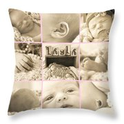 Layla  Collage Throw Pillow