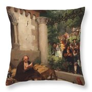 Lazarus And The Rich Man 1865 Throw Pillow