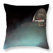 Laser Light Smoke And Great American Throw Pillow