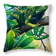 Lazin' Iguana Throw Pillow