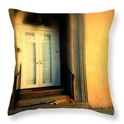 Lazy Afternoon At Kings Street In Charleston Sc Throw Pillow