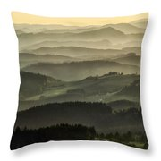 Lazy Afternoon In Beskid Throw Pillow