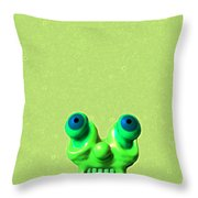 Lazy Alien Throw Pillow