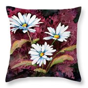 Lazy Daisies Throw Pillow