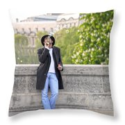 Lazy Day In Paris Throw Pillow