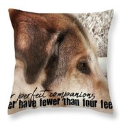 Lazy Day Quote Throw Pillow