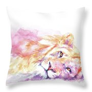 Lazy Days - Lion Throw Pillow