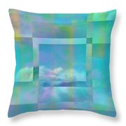 Lazy Days Pastel Squared Throw Pillow