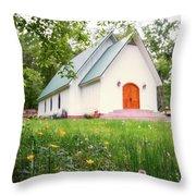 Lazy G Church Throw Pillow