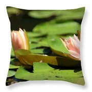 Lazy Lilies Throw Pillow