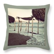 Lazy Monday By The Sea Throw Pillow