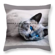 Lazy Summer Quote Throw Pillow