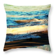 Lazy Waves Throw Pillow